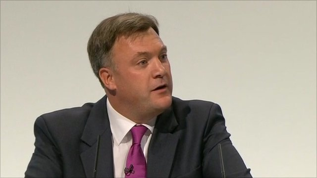Shadow chancellor, Ed Balls