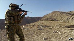 An Australian soldier