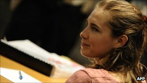 Amanda Knox in court in Perugia on 27 September 2011