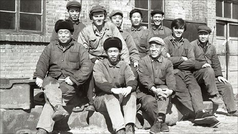 Paul Crook working in a Chinese factory