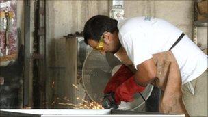 Metal worker Juan Carlos Llorente