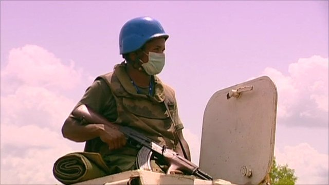 Armed soldier in the Ivory Coast