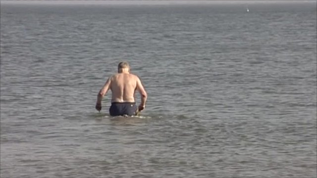 Man in the sea