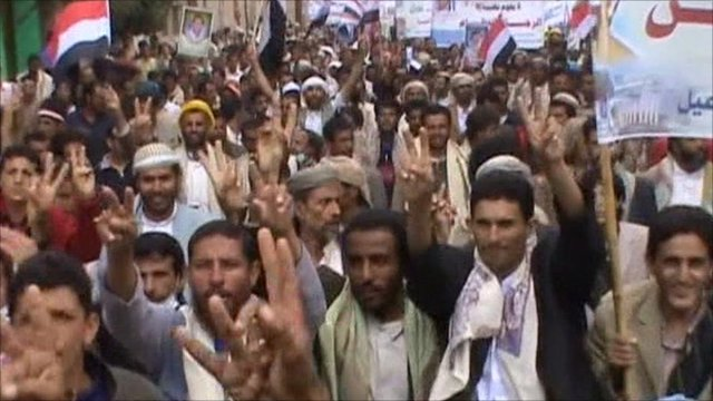 Demonstrations in Sanaa