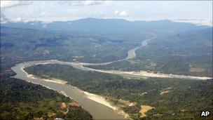 In this photo taken on Dec. 7, 2009, the Irrawaddy River runs through Kachin State, northern Myanmar