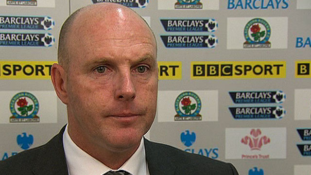 Blackburn's manager Steve Kean