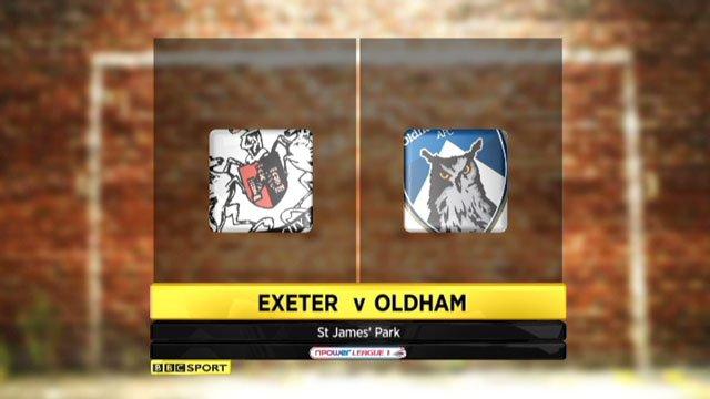 Exeter v Oldham