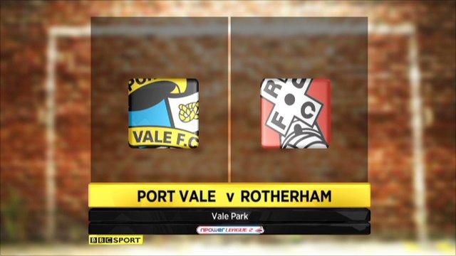Port Vale 2-0 Rotherham
