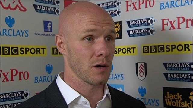 Fulham striker Andy Johnson
