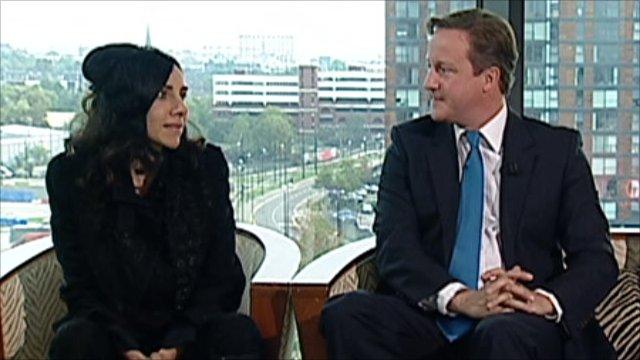 PJ Harvey and David Cameron