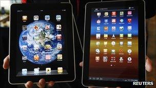 Apple iPad and Galaxy Tab