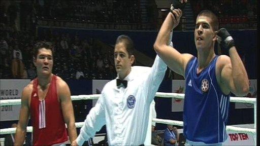 Ramil Aliyev (right) beats Rasul Yuldashev