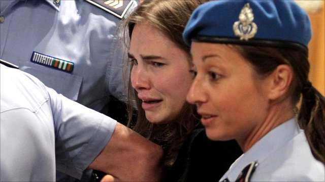 Amanda Knox leaves Perugia's Court of Appeal