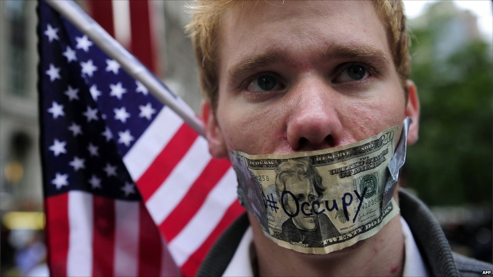 Image result for occupy wall street zombi