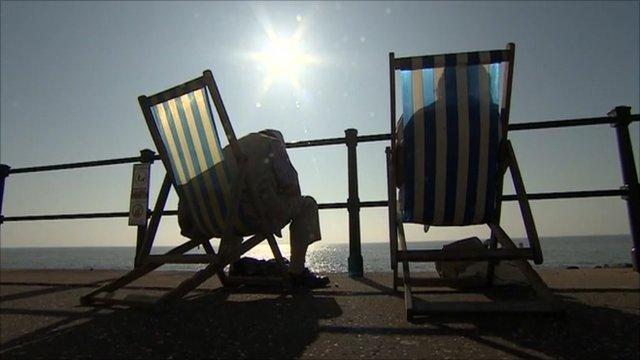 deckchairs in the sunshine