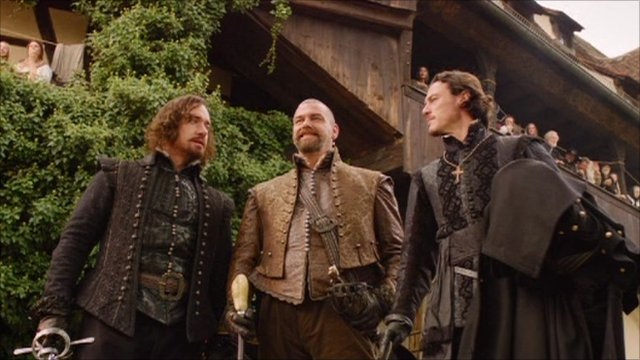 A scene from the Three Musketeers