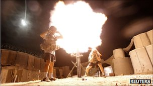 File photo of US mortar team in Afghanistan