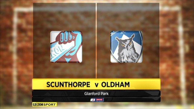 Scunthorpe 0-1 Oldham