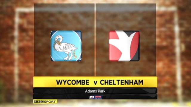 Wycombe 1-3 Cheltenham