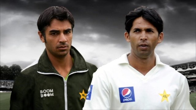 Former captain Salman Butt and fast bowler Mohammad Asif