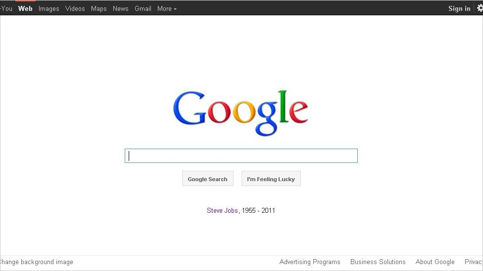 BBC News - The internet responds to the death of Steve Jobs