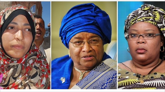 Tawakul Karman, Ellen Johnson Sirleaf and Leymah Gbowee