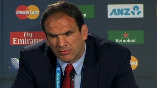 Martin Johnson - England Manager