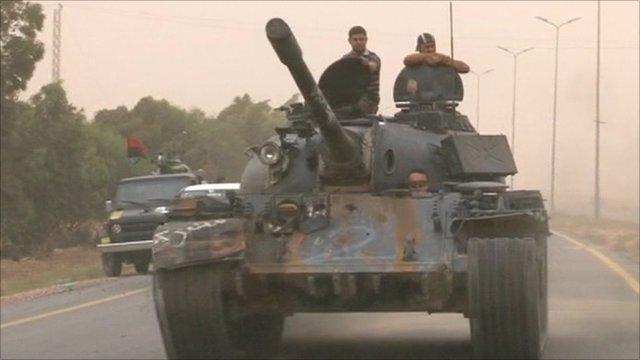 Tank in Sirte