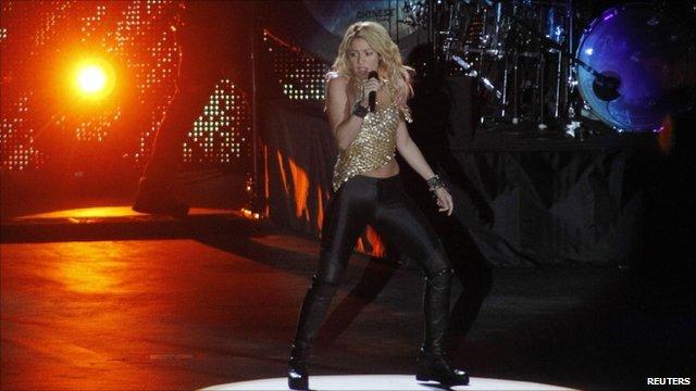 Shakira on stage