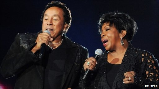 Smokey Robinson and Gladys Knight