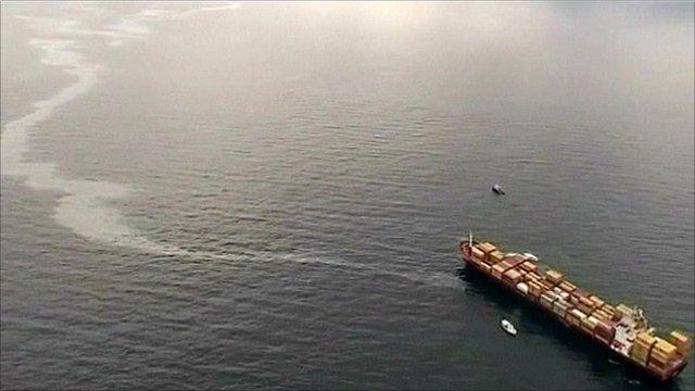 Oil tanker off coast of New Zealand