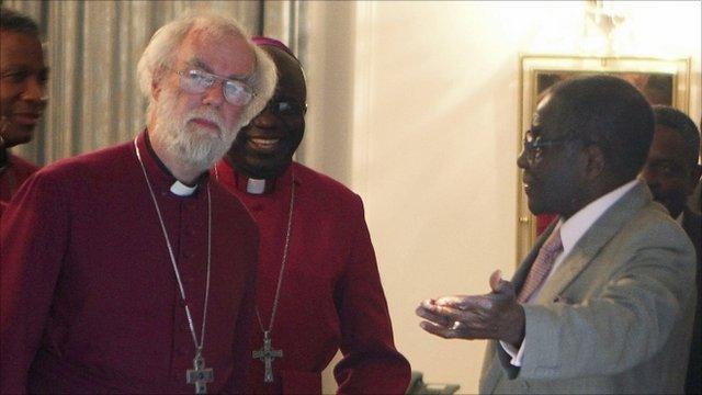 Archbishop of Canterbury and President Robert Mugabe