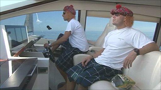Scotland fans head to Spain by boat
