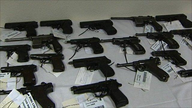 Guns seized in Hungary