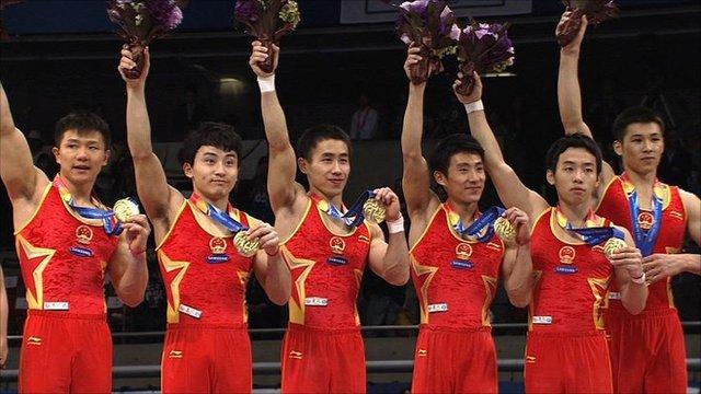 China's men's gymnastics team
