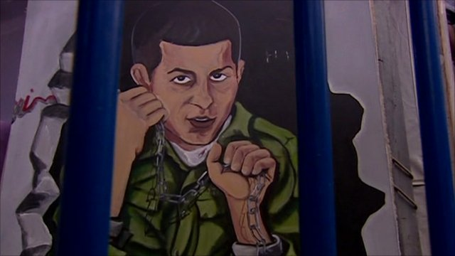 Mural of Israeli soldier Gilad Shalit