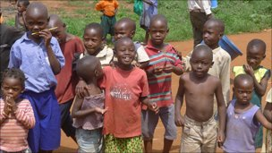 Children in Jinja, Uganda