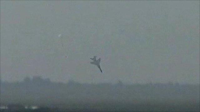 FBC-1 jet nosedives towards the ground