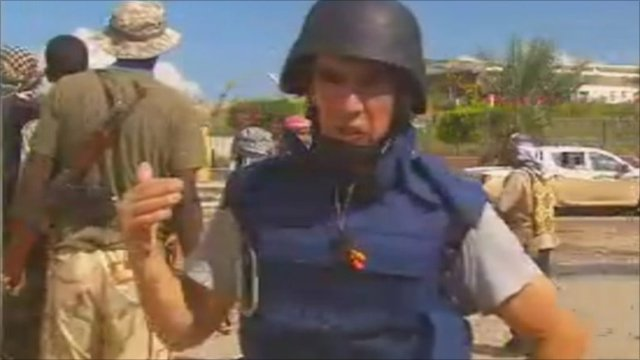 Wyre Davies with anti-Gaddafi forces in Sirte