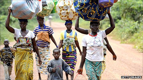 Displaced Ivorians coming back to Toulepleu