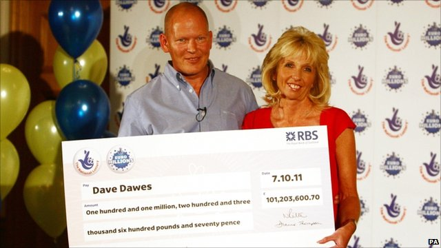EuroMillions winners, Dave and Angela Dawes