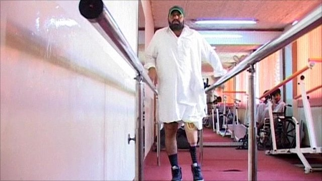 Wounded Pakistani soldier