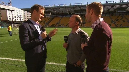 Dan Walker with Jeremy Goss and Iwan Roberts