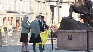 Charles at the Gordon Highlanders memorial