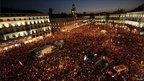 Protest rally in Madrid, 15 October