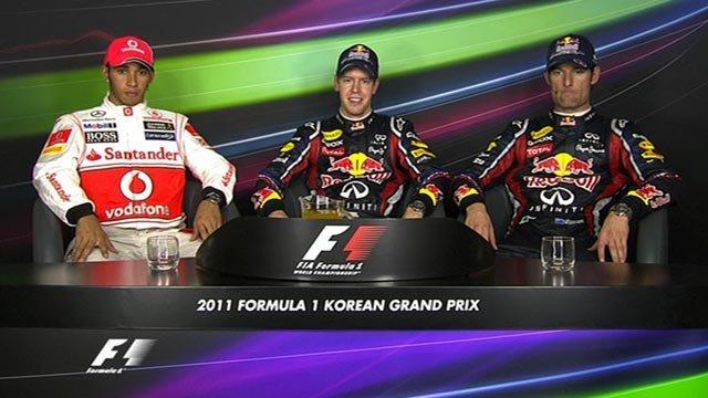 Korean GP top three drivers