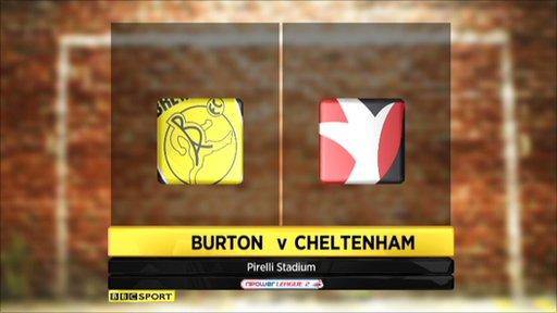 Burton 0-2 Cheltenham