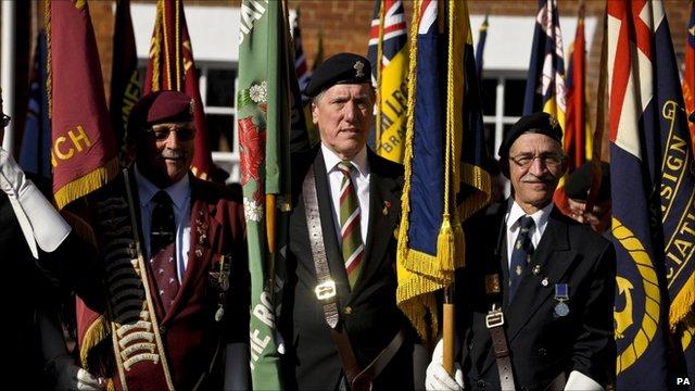 Royal British Legion standard bearers