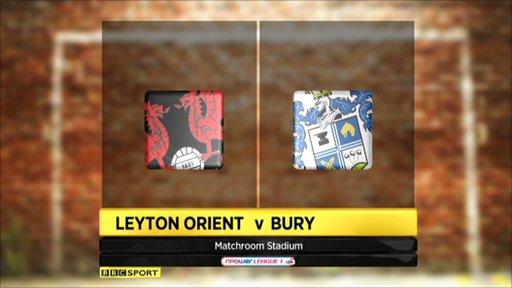 Leyton Orient 1-0 Bury