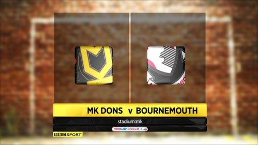 MK Dons 2-2 Bournemouth